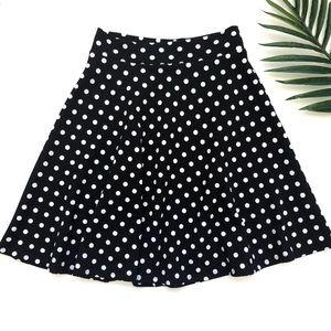 Alice LA knee length polka dot skirt